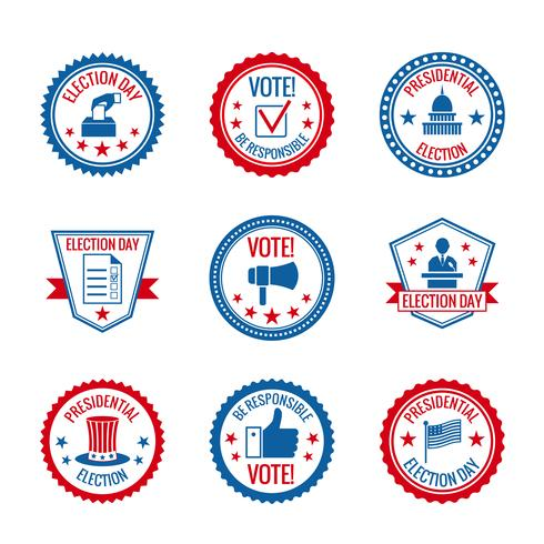 Conjunto de rótulos de eleições vetor