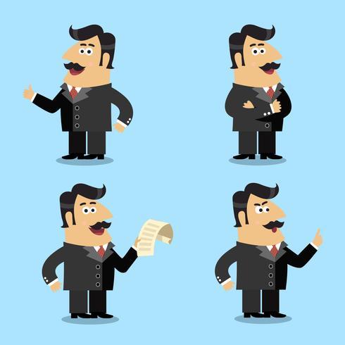 Poses de acionista de vida de negócios vetor