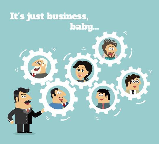 Conceito de equipe de negócios vetor
