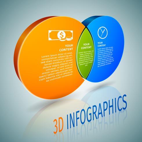 Infografia de círculo gráfico 3d vetor