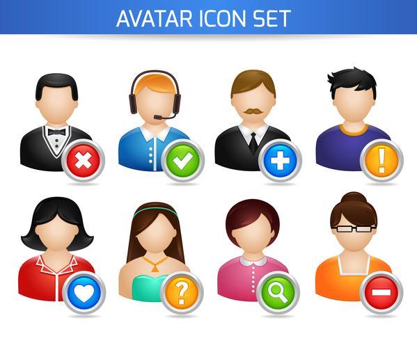 Conjunto de ícones de Avatar social vetor