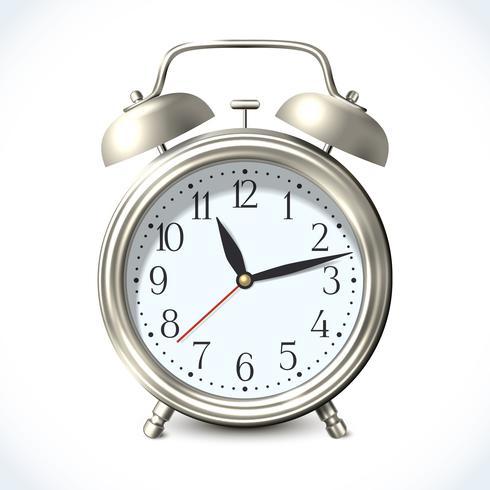 Emblema do despertador vetor