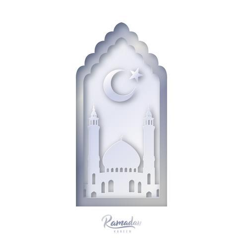 Modelo de design decorativo islâmico. vetor