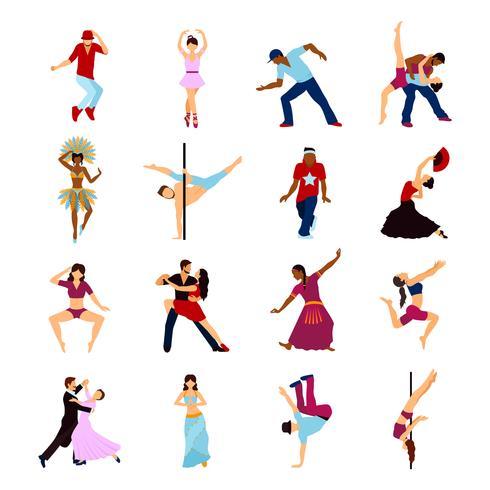 Pessoas dançando conjunto vetor