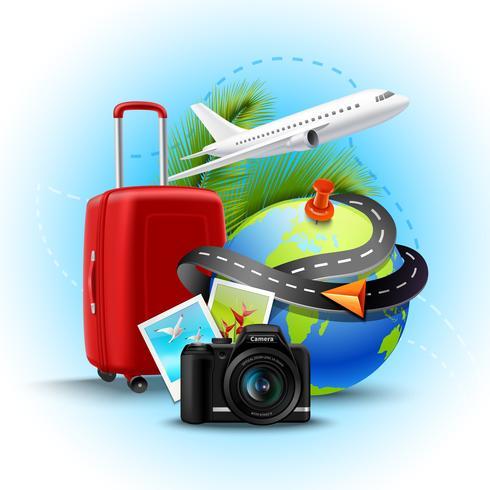 Fundo realista de férias vetor