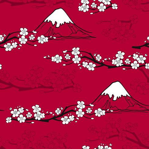 Teste padrão de flor japonesa vetor