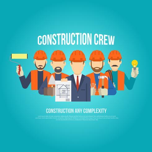 Construtores Conceito Plano vetor