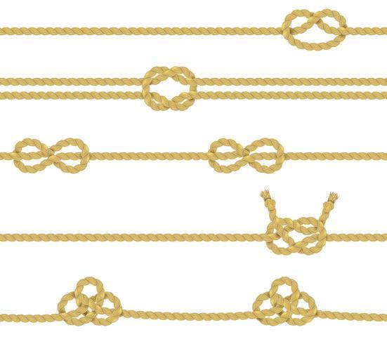 Conjunto de fronteira de corda de malha vetor