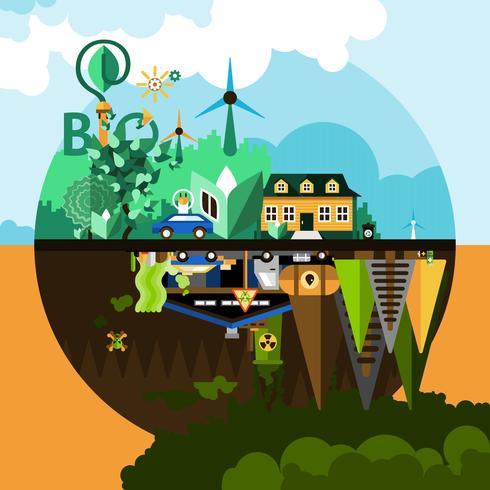 Fundo do conceito de poluição vetor