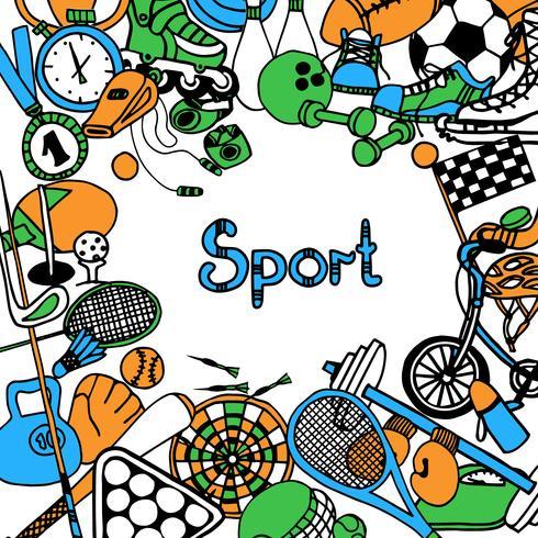 Esporte Sketch Frame vetor