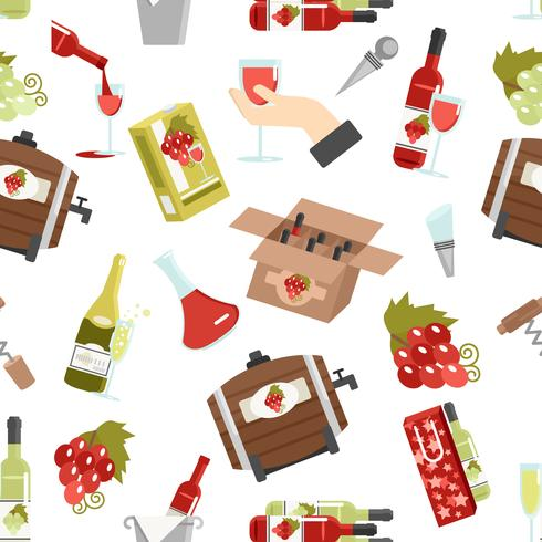 Padrão sem emenda de cor de vinho vetor