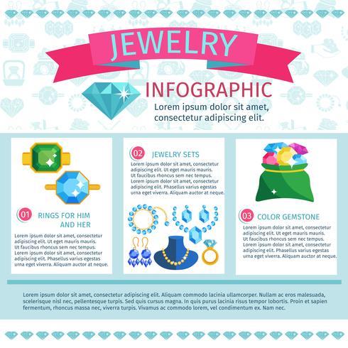 Infografia de joias preciosas vetor
