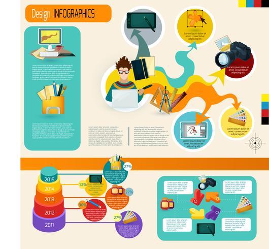conjunto de infográficos de design vetor