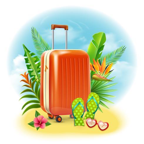 Design de mala de viagem vetor