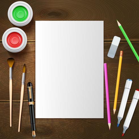 Ilustração de maquete do pintor vetor