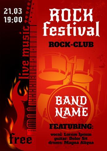 Poster do concerto de rock vetor