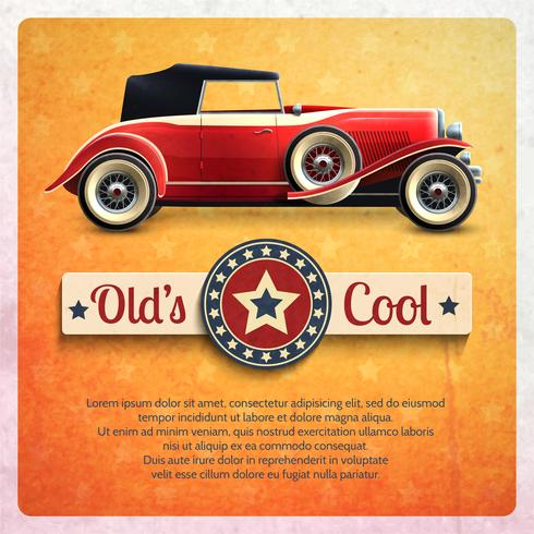 Poster retro do carro vetor