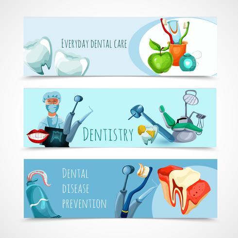 Conjunto de Banner de Estomatologia vetor