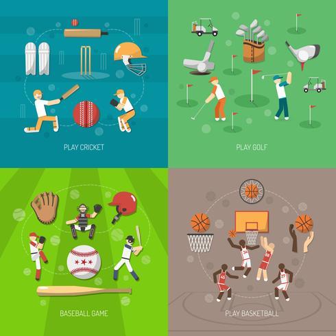 Conceito de design do esporte vetor