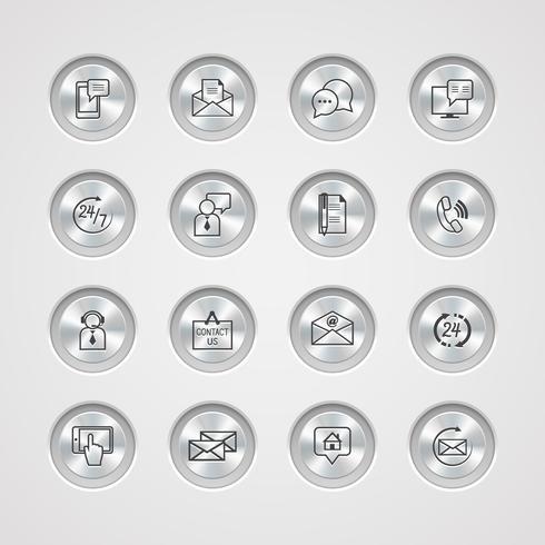 Entre em contato conosco conjunto de ícones de serviço vetor
