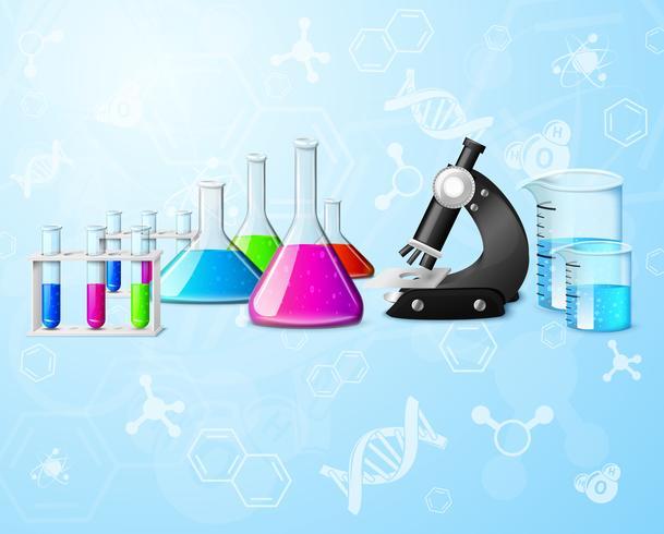 Fundo de laboratório científico vetor