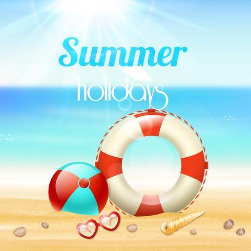 Fundo de viagens de férias de férias de verão vetor