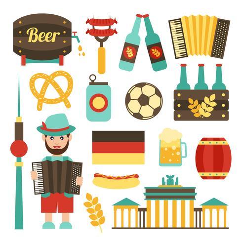 Conjunto de viagem na Alemanha vetor