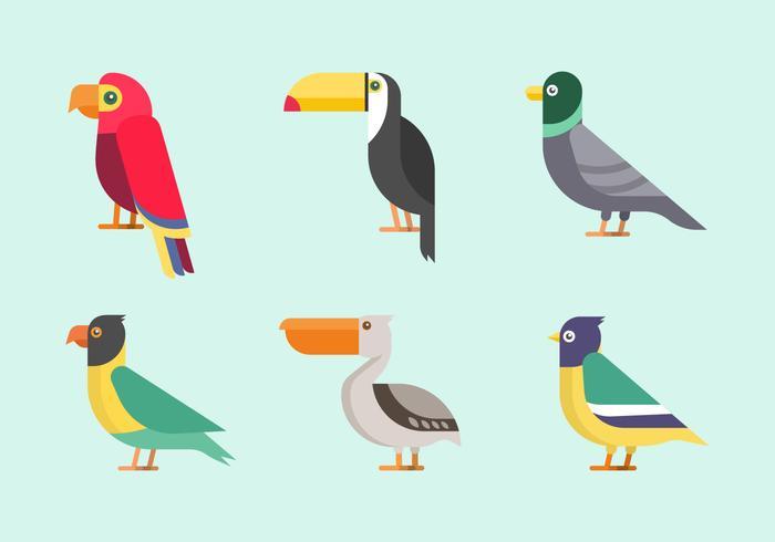Clipart de aves vetor
