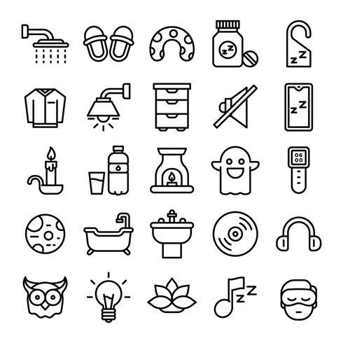 Pacote de ícones para dormir vetor