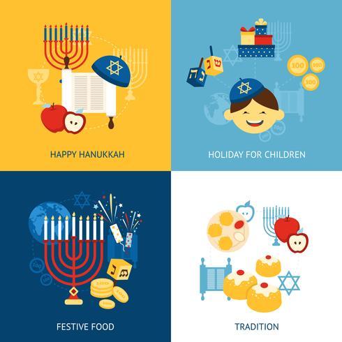 conceito de design de hanukkah vetor
