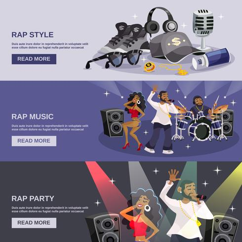 Banner de música rap vetor
