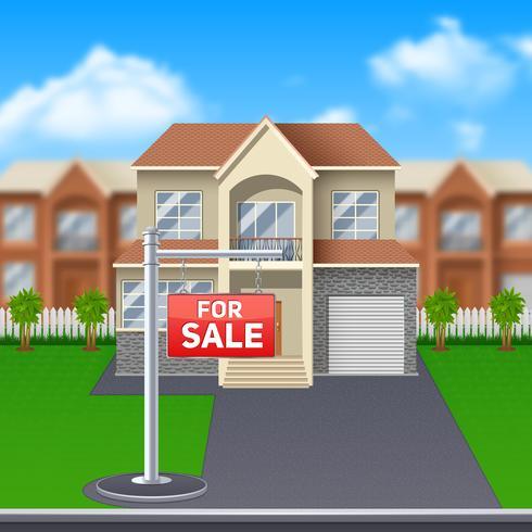 Casa para ilustração de venda vetor