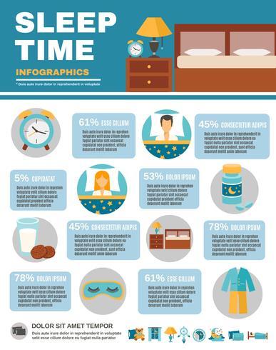 Infográfico Sleep Time vetor