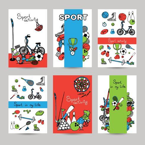 Esporte Banner Set vetor