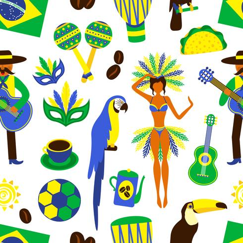 Padrão sem emenda do Brasil vetor