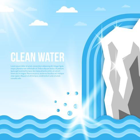 Ilustração de fundo de água vetor