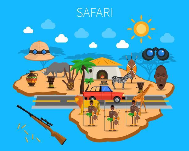 Ilustração do conceito de safári vetor