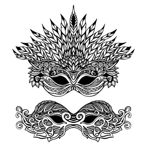 Máscara Decorativa de Carnaval vetor