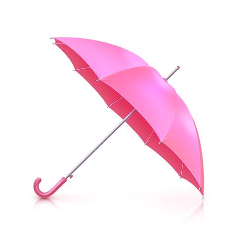 Guarda-chuva realista rosa vetor