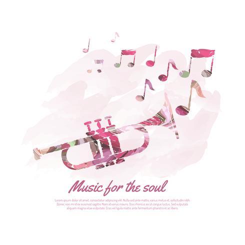 Ilustração do conceito de música vetor