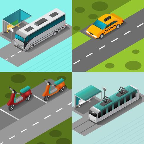 Conjunto de Transporte Público vetor