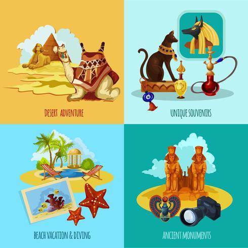 Conjunto Turístico do Egito vetor