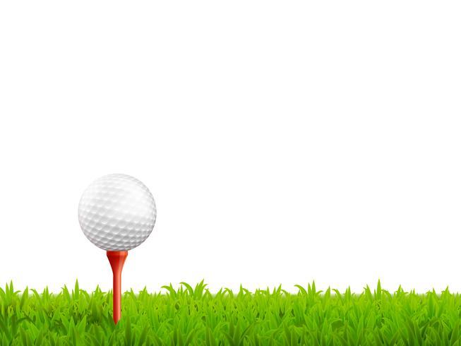 Ilustração realista de golfe vetor