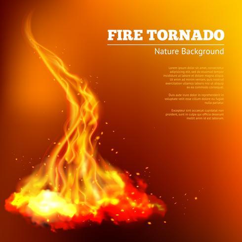 Ilustração de tornado de fogo vetor