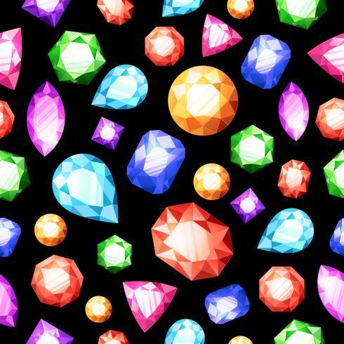 Padrão sem emenda de pedras preciosas vetor