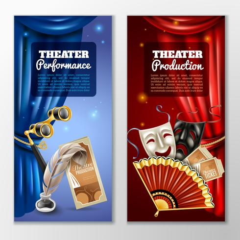 Conjunto de Banners de Teatro vetor