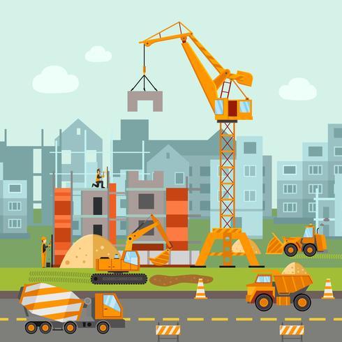 Ilustração de trabalho de construção vetor