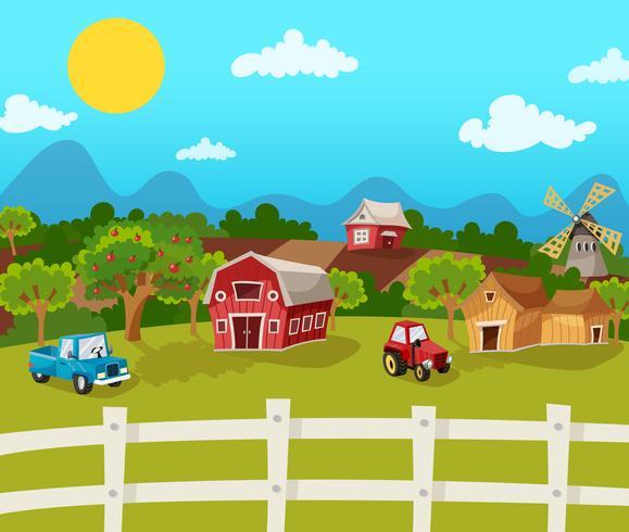 Fazenda dos desenhos animados vetor