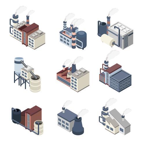 Indústria de construção isométrica vetor