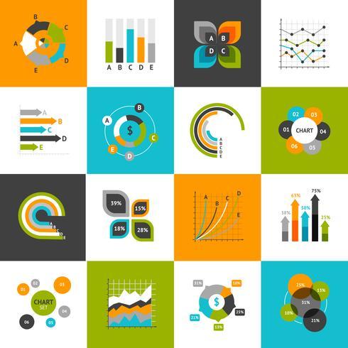 Conjunto de gráficos de negócios vetor